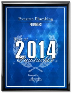 Everton Plumbing Receives 2014 Best of Pawtucket Award
